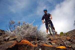 mountain bike fournaise volcano