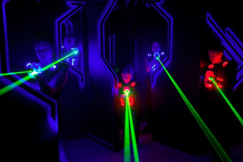 Laser game in Reunion island
