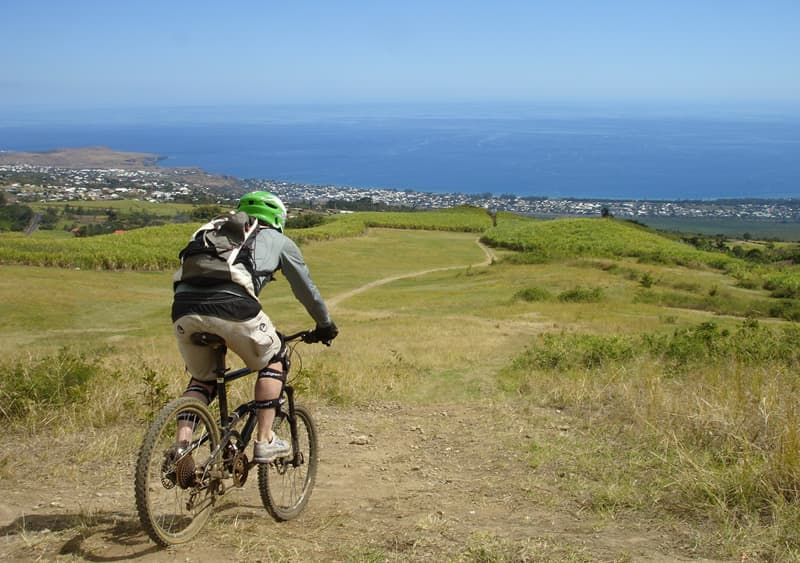 Mountain bike in Reunion island